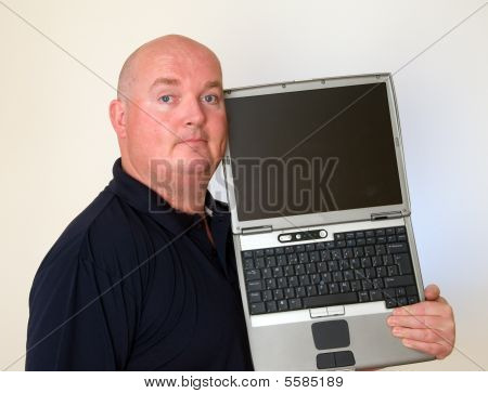 Photo Your Friendly Male It Man Laptop