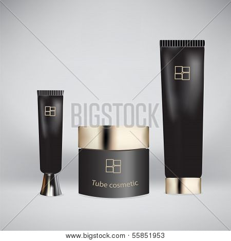 Vector illustration of tube cosmetic