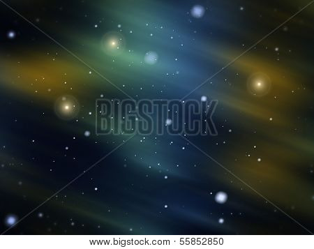 Snowy aurora glow background