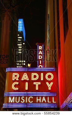 New York City landmark, Radio City Music Hall in Rockefeller Center