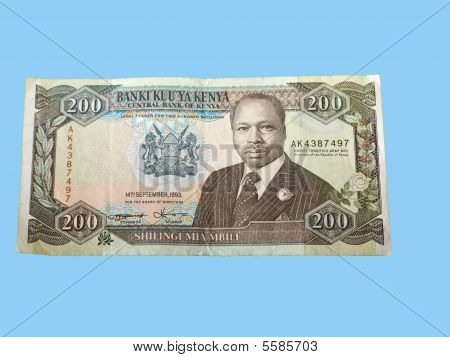 A Two Hundred Kenyan Shilling Note