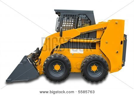 Yellow Mini Wheel Excavator