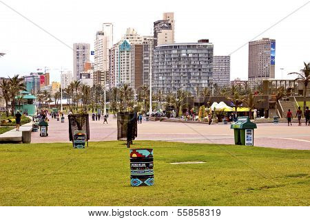 View Of Durban South Africas Golden Mile Beachfront