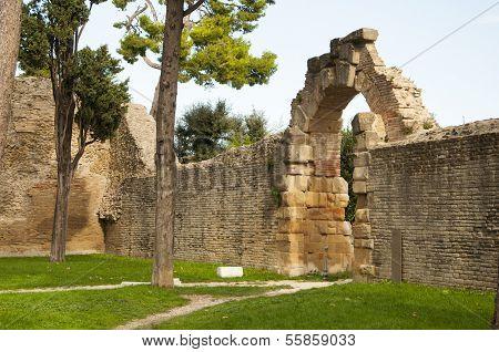 Remains of Roman Empire Fano