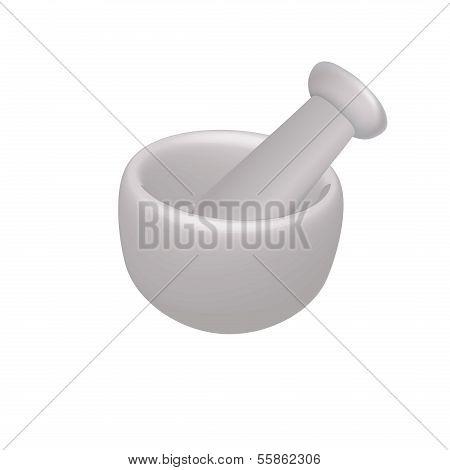Vector illustration of mortar