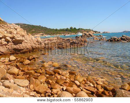 Rocky beach in Sardinia cala del principe