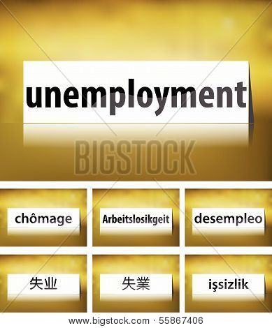 Unemployment Concept on white background
