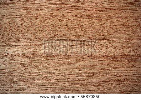 Okoume Wood Surface - Horizontal Lines
