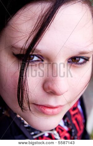 Close Up On A Beautiful Teenager Posing