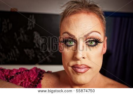Close Up Of Man In Makeup