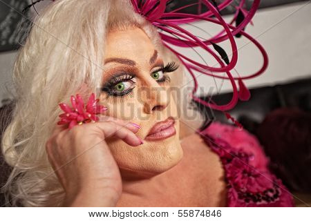 Close Up Of Drag Queen