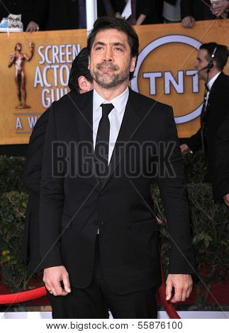 LOS ANGELES - JAN 27:  Javier Bardem arrives to the SAG Awards 2013  on January 27, 2013 in Los Angeles, CA