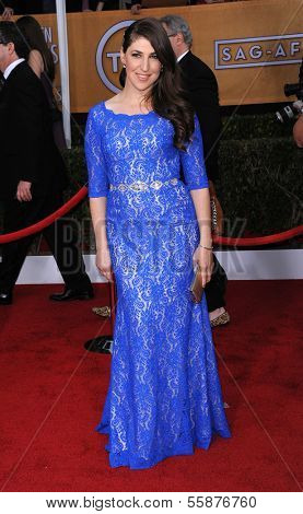 LOS ANGELES - JAN 27:  Mayim Bialik arrives to the SAG Awards 2013  on January 27, 2013 in Los Angeles, CA