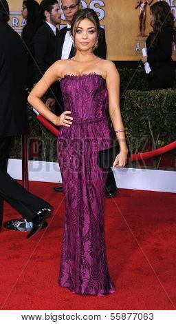 LOS ANGELES - JAN 27:  Sarah Hyland arrives to the SAG Awards 2013  on January 27, 2013 in Los Angeles, CA