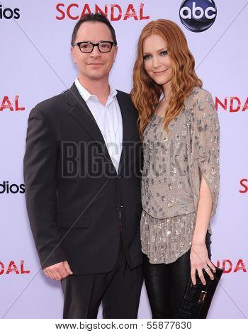 LOS ANGELES - MAY 16:  Joshua Malina & Darby Stanchfield arrives to the