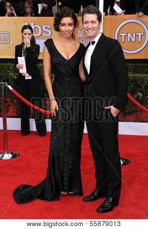 LOS ANGELES - JAN 27:  Matthew Morrison arrives to the SAG Awards 2013  on January 27, 2013 in Los Angeles, CA