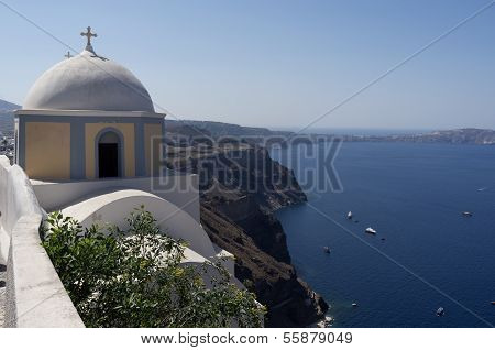 Church in Thira,