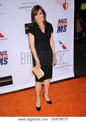LOS ANGELES - MAY 03:  Linda Gray arrives to the Race To Erase MS 2013  on May 03, 2013 in Century City, CA