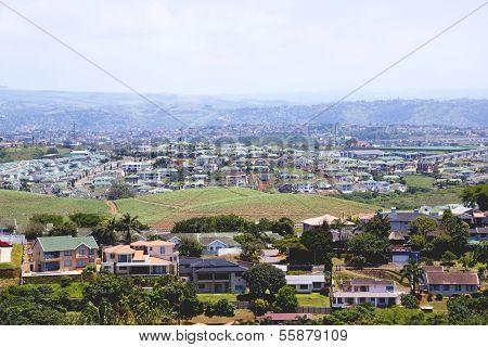 Above View Of Suburban Residential Housing Estates