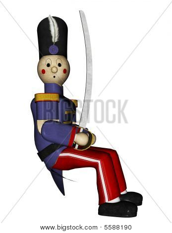 Toy Soldier With Sword Sitting