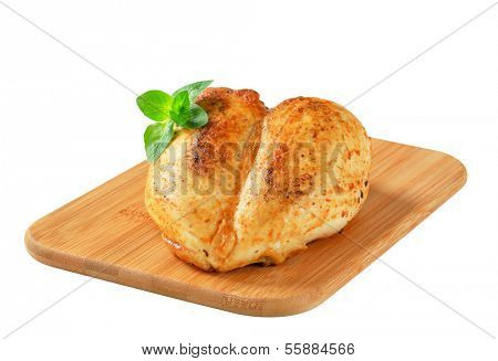 Chicken breast rubbed with garlic paste