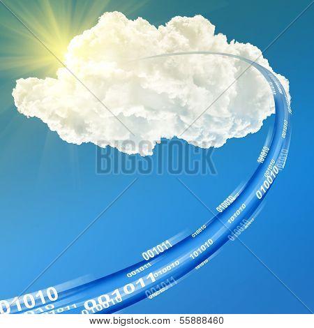 Cloud Data Base Concept - Illustration