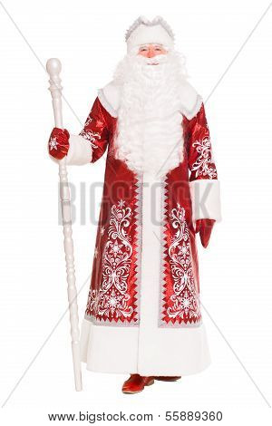 Santa Claus Wearing Red Coat