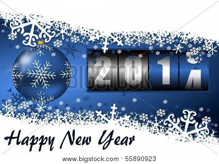 2014 new year illustration with counter