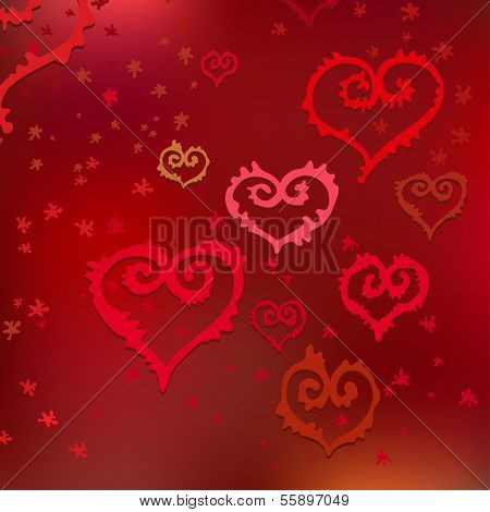 Vector Pattern of Hearts
