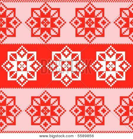 Seamless russian red pattern