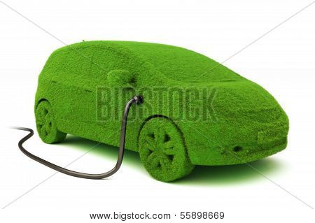 Alternative power concept eco car .