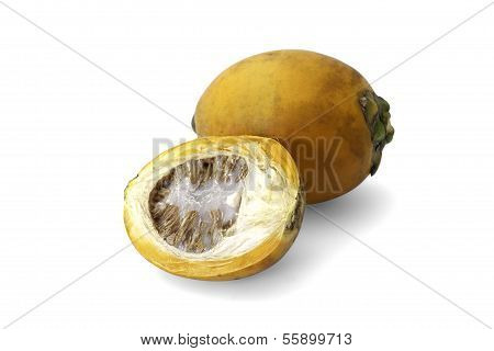 Ripe Acera Or Betel Palm Nut Fruit