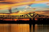 stock photo of natchez  - Sunset view at mississippi river in Natchez - JPG
