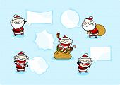 picture of winterberry  - Set of images of a speaking Santa Claus - JPG