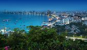 picture of nightfall  - Pattaya is a most popular beach resort with tourists and expatriates - JPG