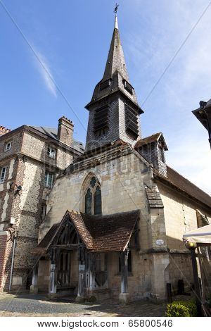 Saint Etienne, 14th century church hosting the naval museum at Honfleur, Basse-Normandie, France