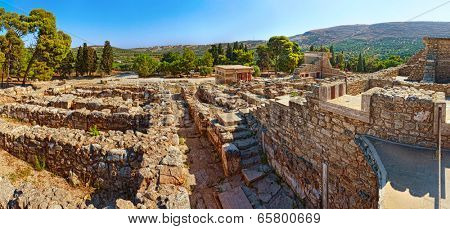 Ruins of Ancient Knossos Palace at Crete island, Greece