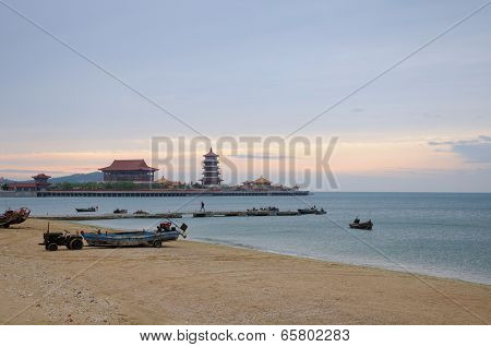 Beach on Penglai China