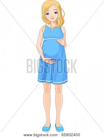 Young woman is prepared for maternity.