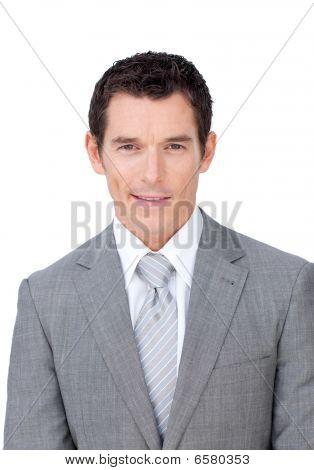 Portrait Of An Assertive Businessman