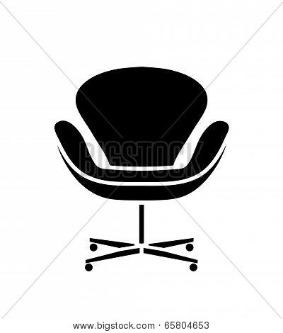 Black office chair icon