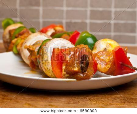 Skewer kebabs