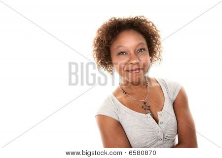 Pretty African American Woman
