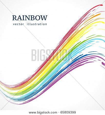 Abstract Vector Background With Ink Rainbow.