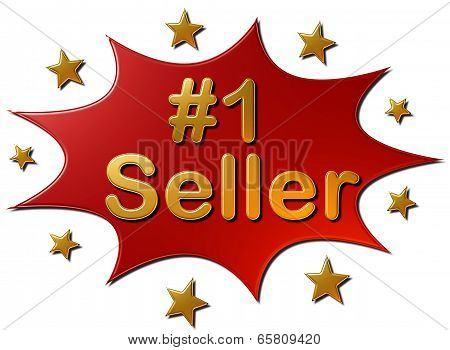 #1 Seller (Red Explosion Golden Stars)