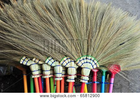 The Besom Made From Dry Grass