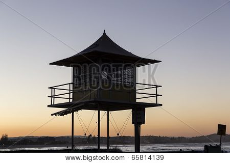 Gold Coast Lifeguard Tower Silhouette