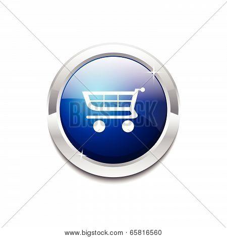 Shopping Circular Vector Blue Web Icon