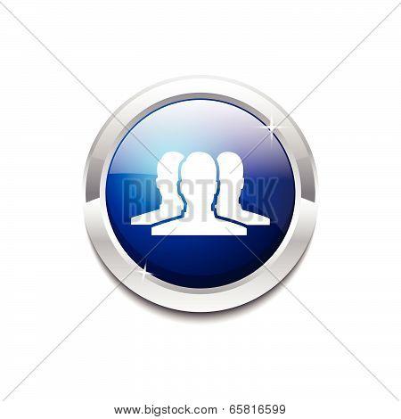 User Circular Vector Blue Web Icon