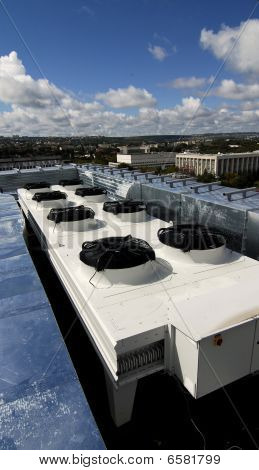 Ventilation System On A Roof